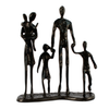 Image of Elur Family 5 Outing Iron Status Figurine 18cm in Mocha Brown - Ruby's Garden Boutique