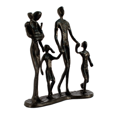 Elur Family 5 Outing Iron Status Figurine 18cm in Mocha Brown - Ruby's Garden Boutique