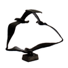 Image of Elur Seagulls Iron Ornament 20cm in Mocha Brown - Ruby's Garden Boutique