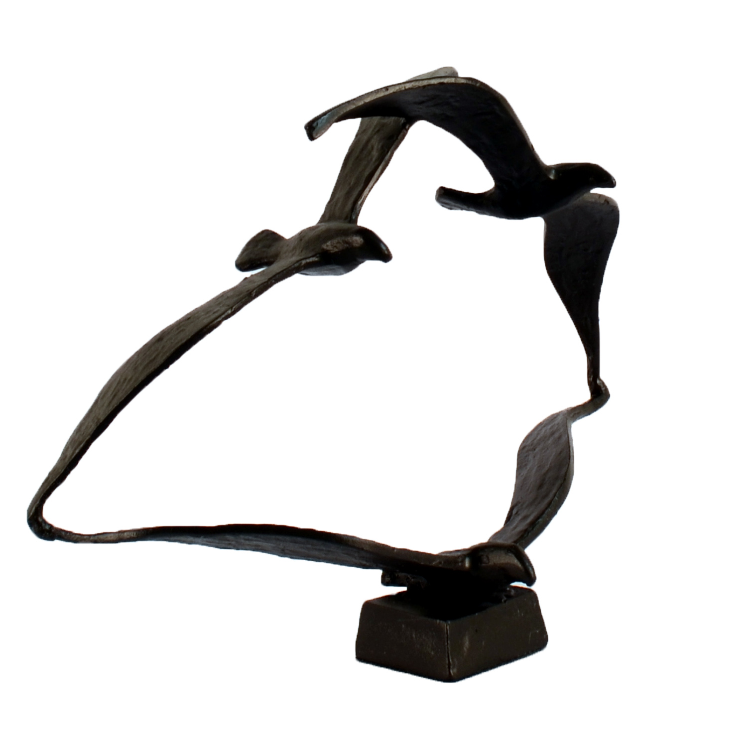 Elur Seagulls Iron Ornament 20cm in Mocha Brown - Ruby's Garden Boutique