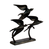 Image of Elur Swallows Iron Ornament 22cm in Mocha Brown - Ruby's Garden Boutique
