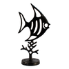 Image of Elur Angel Fish Iron Ornament 37cm in Mocha Brown - Ruby's Garden Boutique