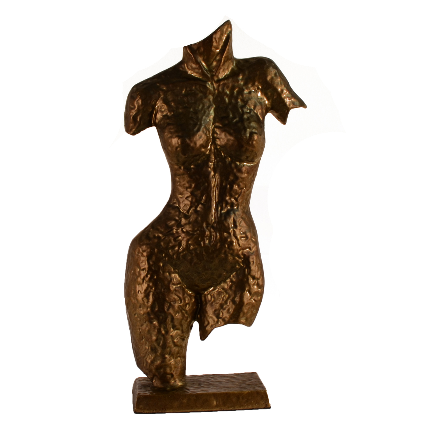 Elur Torso Sculpture Aluminium Ornament 38cm Golden Brown - Ruby's Garden Boutique