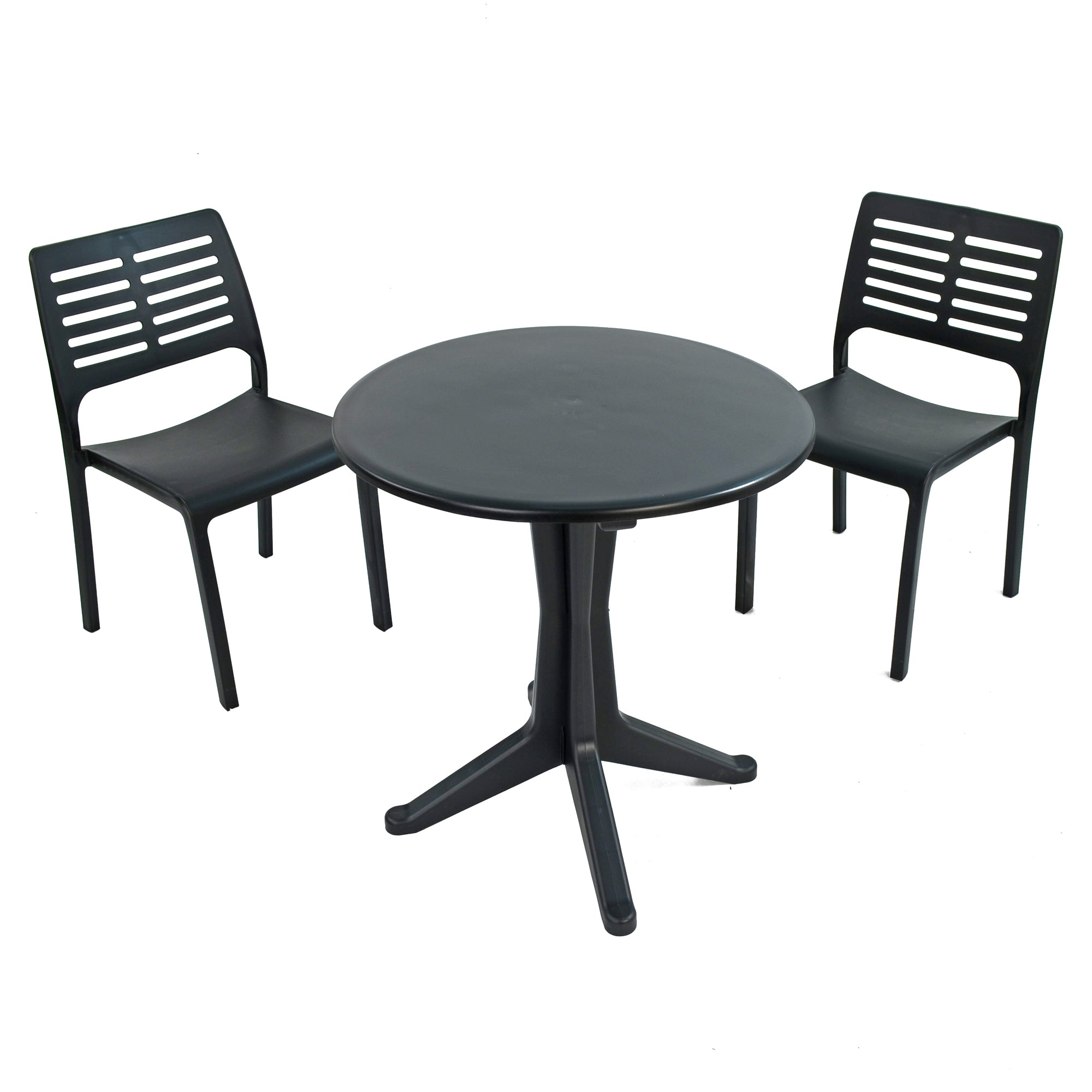 Trabella Anthracite Levante Dining Table With 2 Mistral Chairs