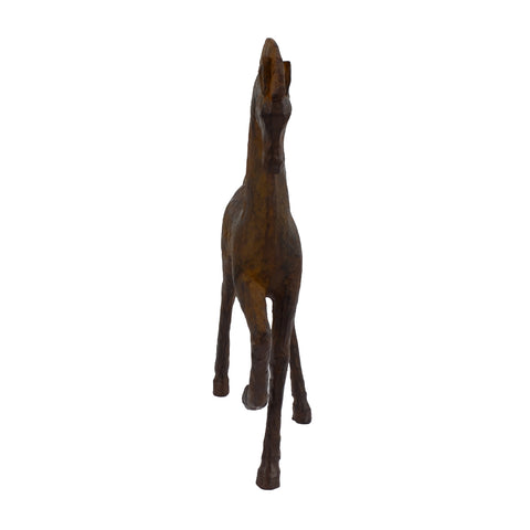 Elur Contemporary Horse 31cm Carved Wood Effect Statue - Ruby's Garden Boutique