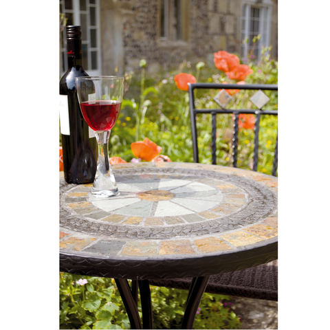 Europa Stone Villena Bistro Outdoor Garden Table - Ruby's Garden Boutique