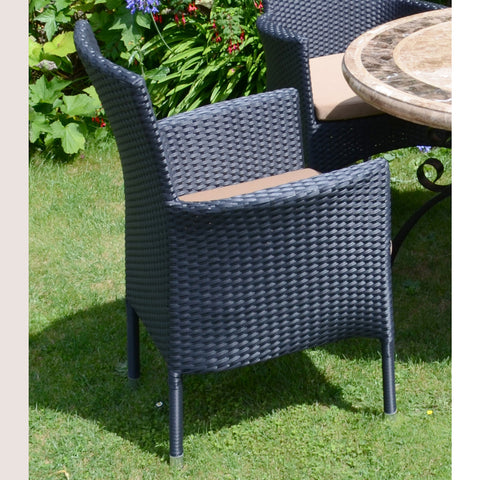 Europa Leisure Stockholm Outdoor Chair Black Pack Of 2 - Ruby's Garden Boutique
