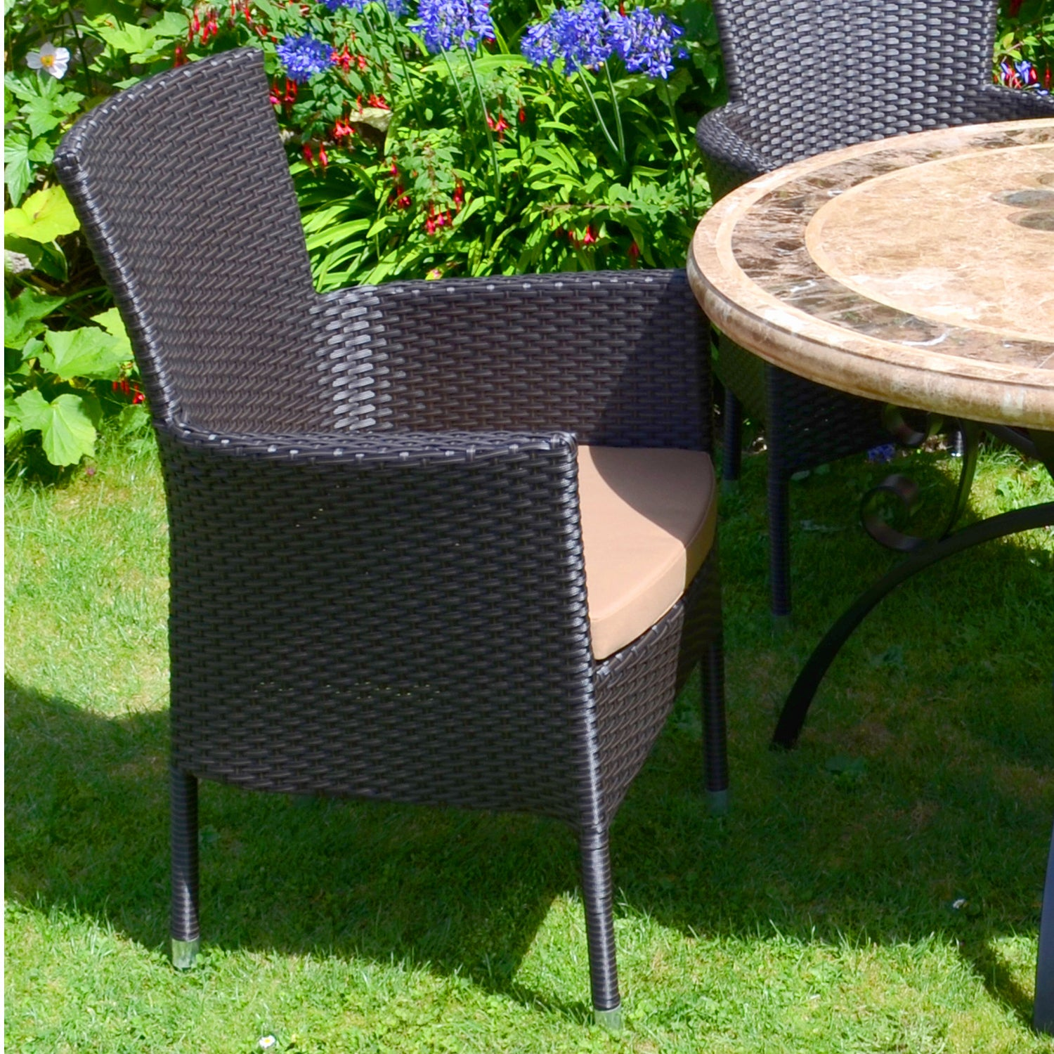 Europa Leisure Stockholm Outdoor Chair Brown Pack Of 2 - Ruby's Garden Boutique