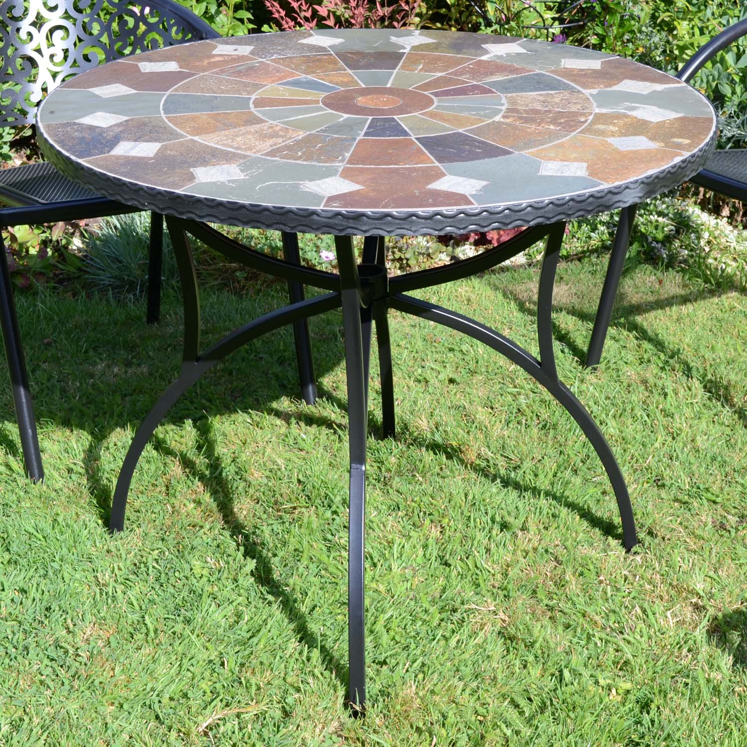 Europa Stone Granada 91cm Patio Garden Table - Ruby's Garden Boutique