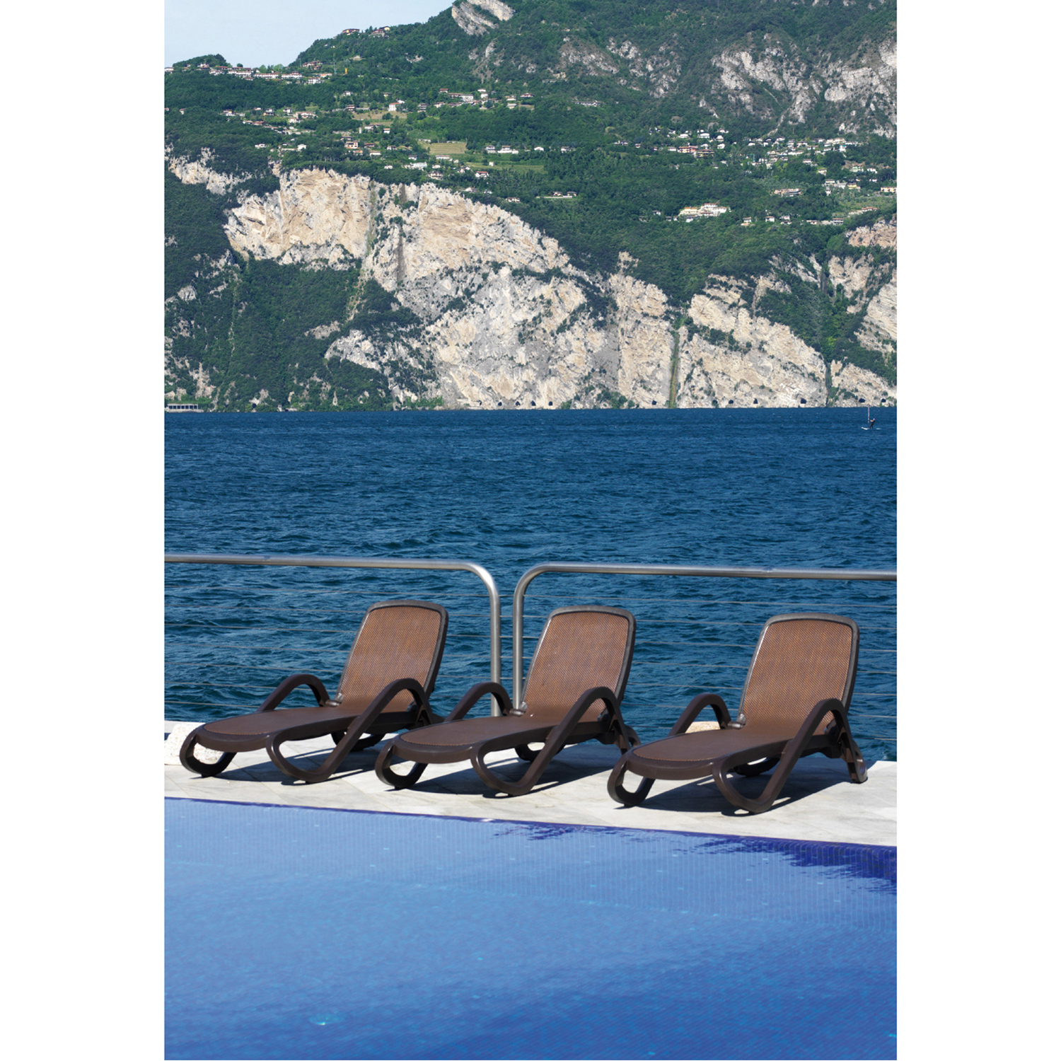 Nardi Alfa Lounger Coffee Pack of 2 - Ruby's Garden Boutique