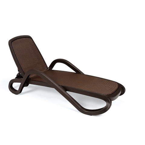 Nardi Alfa Sun Lounger Coffee & Coffee - Ruby's Garden Boutique
