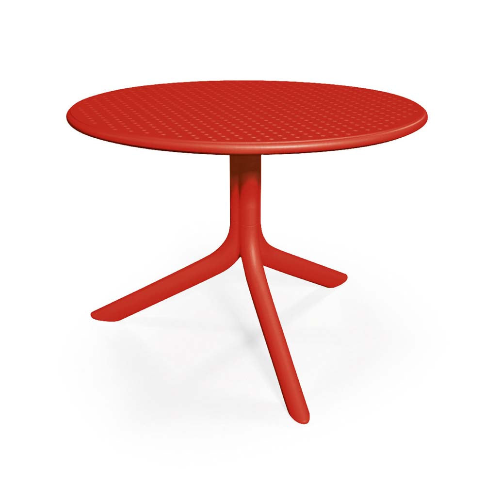 Nardi Red Step Garden Table with 2 Bistrot Chair Set - Ruby's Garden Boutique