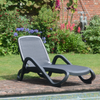 Image of Nardi Alfa Anthracite & Anthracite Sun Lounger - Ruby's Garden Boutique