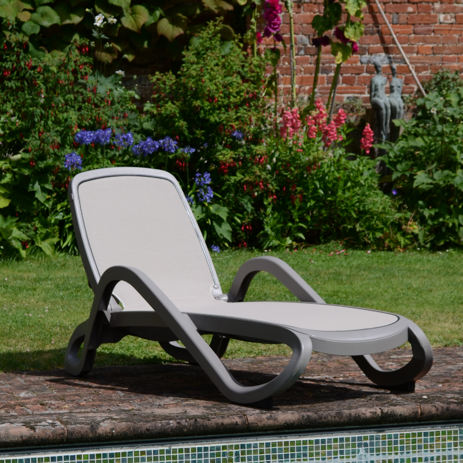 Nardi Alfa Turtle Dove Pack of 2 Sun Lounger - Ruby's Garden Boutique