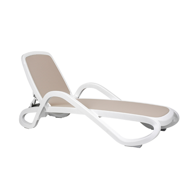 Nardi Alfa White with Turtle Dove Pack of 2 Sun Lounger - Ruby's Garden Boutique