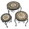 Image of Summer Terrace Brava Plantstand Set Of 3 Low - Ruby's Garden Boutique