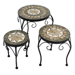 Summer Terrace Brava Plantstand Set Of 3 Low - Ruby's Garden Boutique