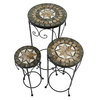 Image of Summer Terrace Brava Plantstand Set Of 3 Tall - Ruby's Garden Boutique