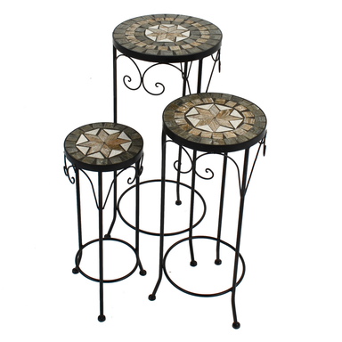 Summer Terrace Brava Plantstand Set Of 3 Tall - Ruby's Garden Boutique