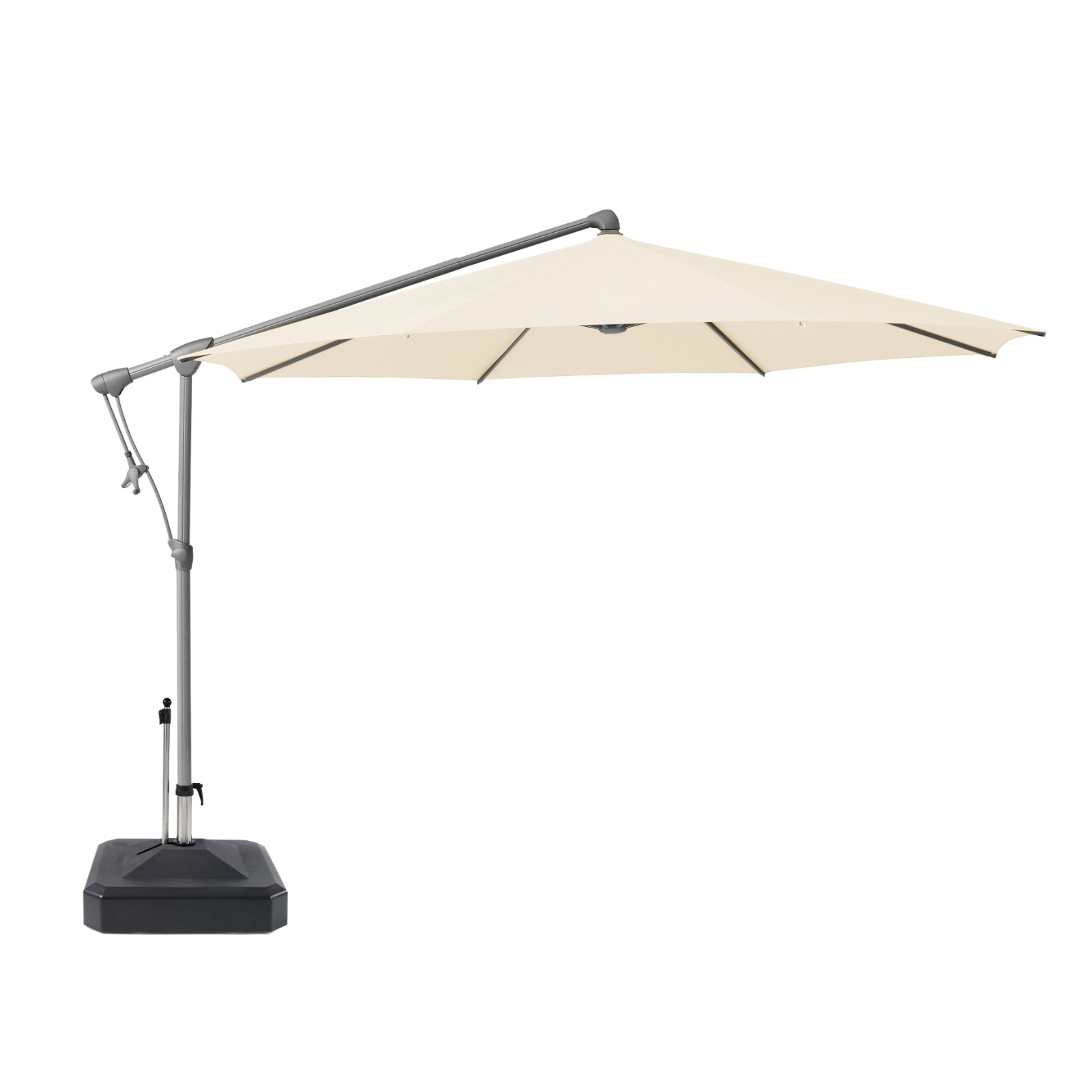 Glatz Sunwing 2.65m Cantilever Parasol with Lira 100kg moveable base