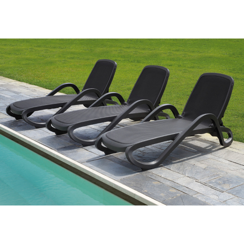 Nardi Alfa Anthracite & Anthracite Pack Of 2 Sun Lounger - Ruby's Garden Boutique