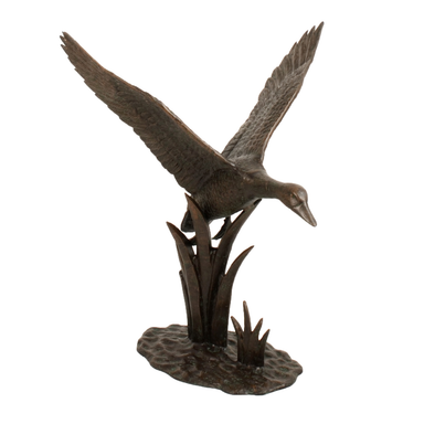 Solstice Sculptures Duck In Flight Aluminium Dark Verdigris - Ruby's Garden Boutique