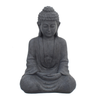 Image of Solstice Sculptures Buddha Sitting Grey Charcoal Effect - Ruby's Garden Boutique