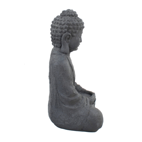 Solstice Sculptures Buddha Sitting Grey Charcoal Effect - Ruby's Garden Boutique
