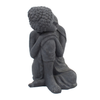 Image of Solstice Sculptures Buddha Crouching Grey Charcoal Effect - Ruby's Garden Boutique