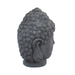 Solstice Sculptures Buddha Head Grey Charcoal Effect - Ruby's Garden Boutique