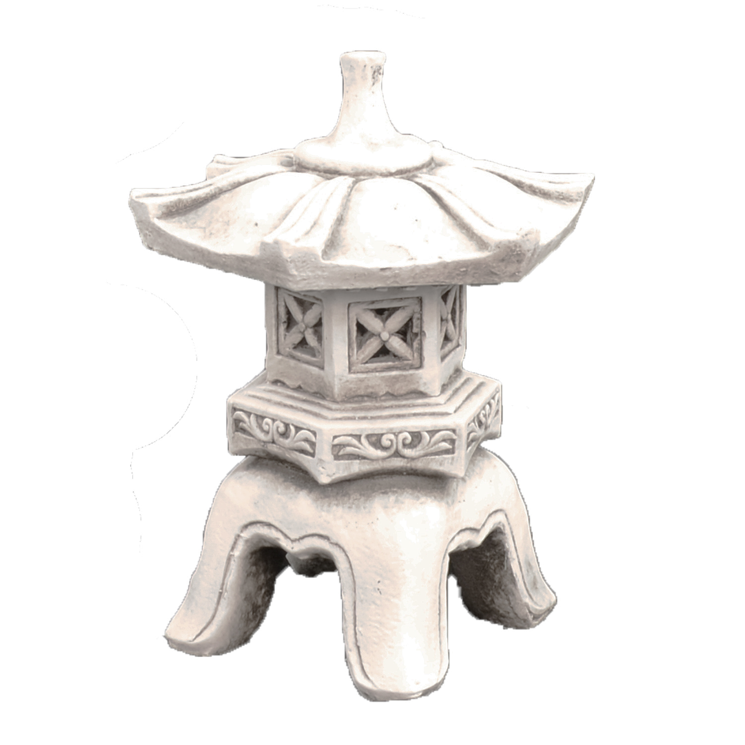 Solstice Sculptures Pagoda Low Antique Stone Effect - Ruby's Garden Boutique