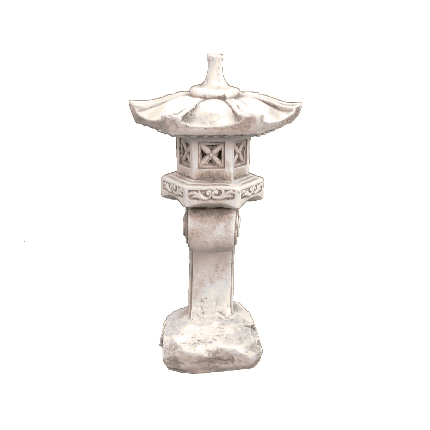 Solstice Sculptures Pagoda Tall Antique Stone Effect - Ruby's Garden Boutique