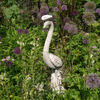 Image of Solstice Sculptures Peacock Antique Stone Effect - Ruby's Garden Boutique