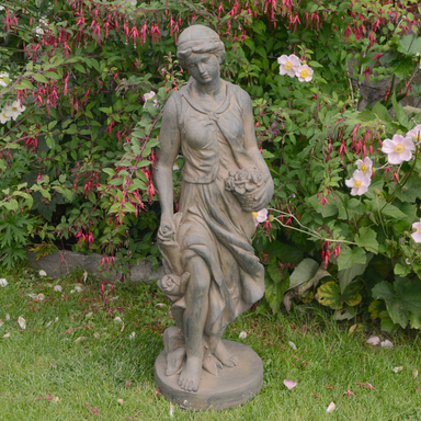 Solstice Sculptures Susie In Spring 84cm Rust Effect - Ruby's Garden Boutique