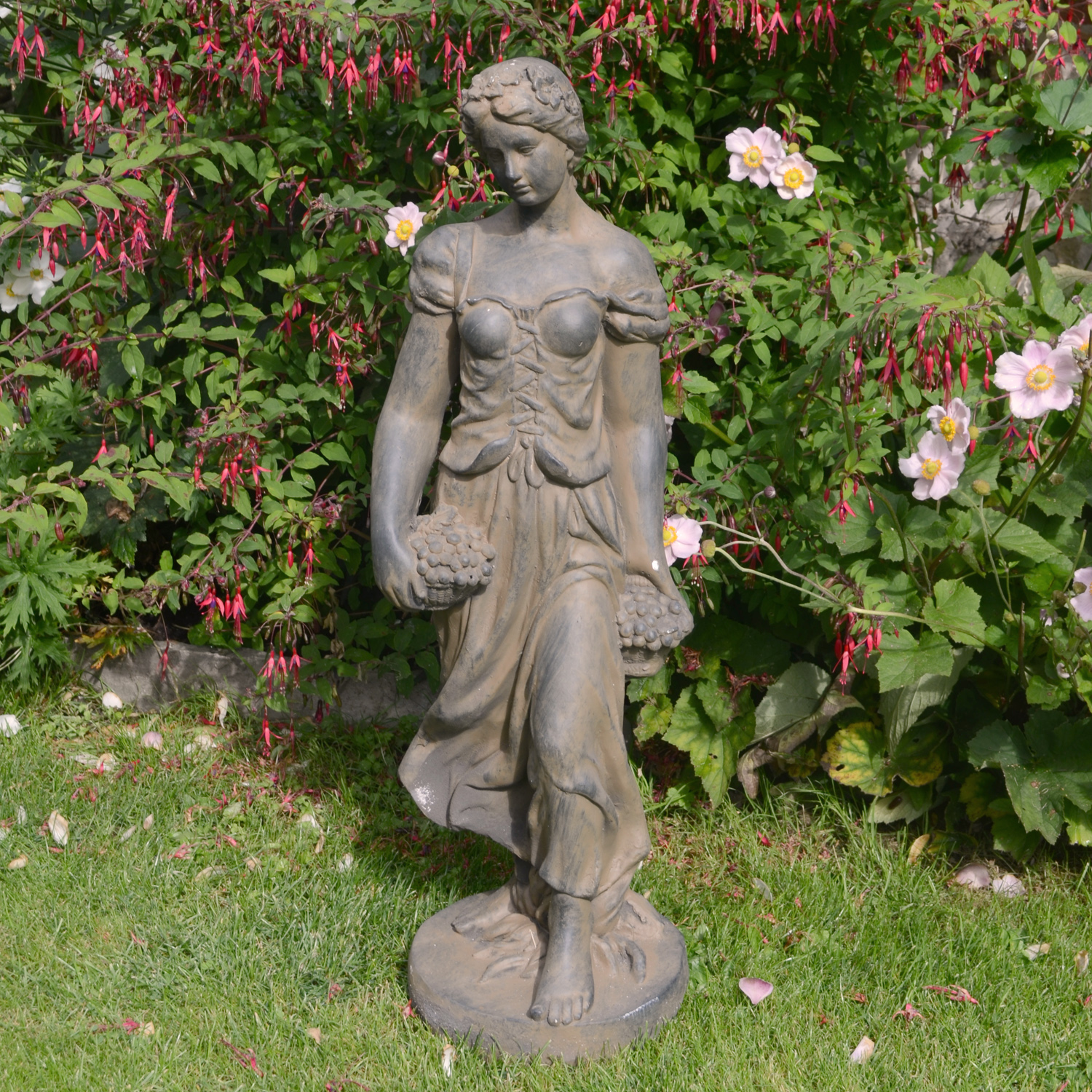 Solstice Sculptures Sally In Summer 84cm Rust Effect - Ruby's Garden Boutique