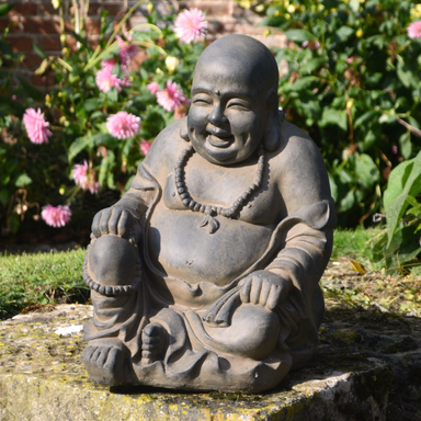 Solstice Sculptures Buddhist Monk Sitting Rust Effect - Ruby's Garden Boutique