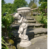 Image of Solstice Sculptures Janet Girl Planter Antique Stone Effect - Ruby's Garden Boutique