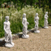 Solstice Sculptures Susie In Spring 84cm White Stone Effect - Ruby's Garden Boutique