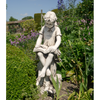 Image of Solstice Sculptures Mary Reading Girl Antique Stone Effect - Ruby's Garden Boutique