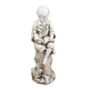 Image of Solstice Sculptures Matthew Reading Boy Antique Stone Effect - Ruby's Garden Boutique