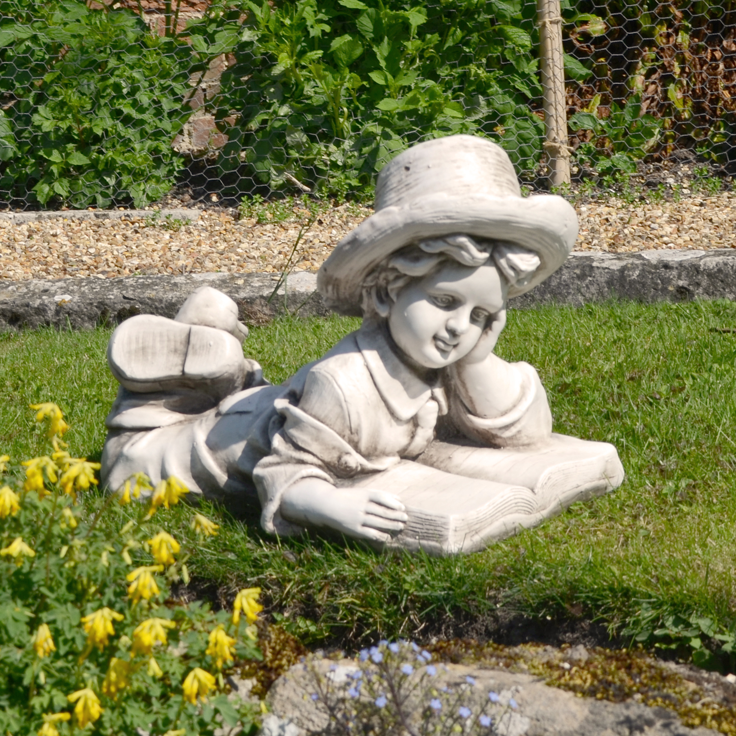 Solstice Sculptures Eric Antique Stone Effect - Ruby's Garden Boutique