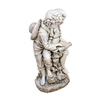 Image of Solstice Sculptures Jack & Jill Reading Antique Stone Effect - Ruby's Garden Boutique