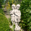 Image of Solstice Sculptures Jack & Jill Standing Antique Stone Effect - Ruby's Garden Boutique