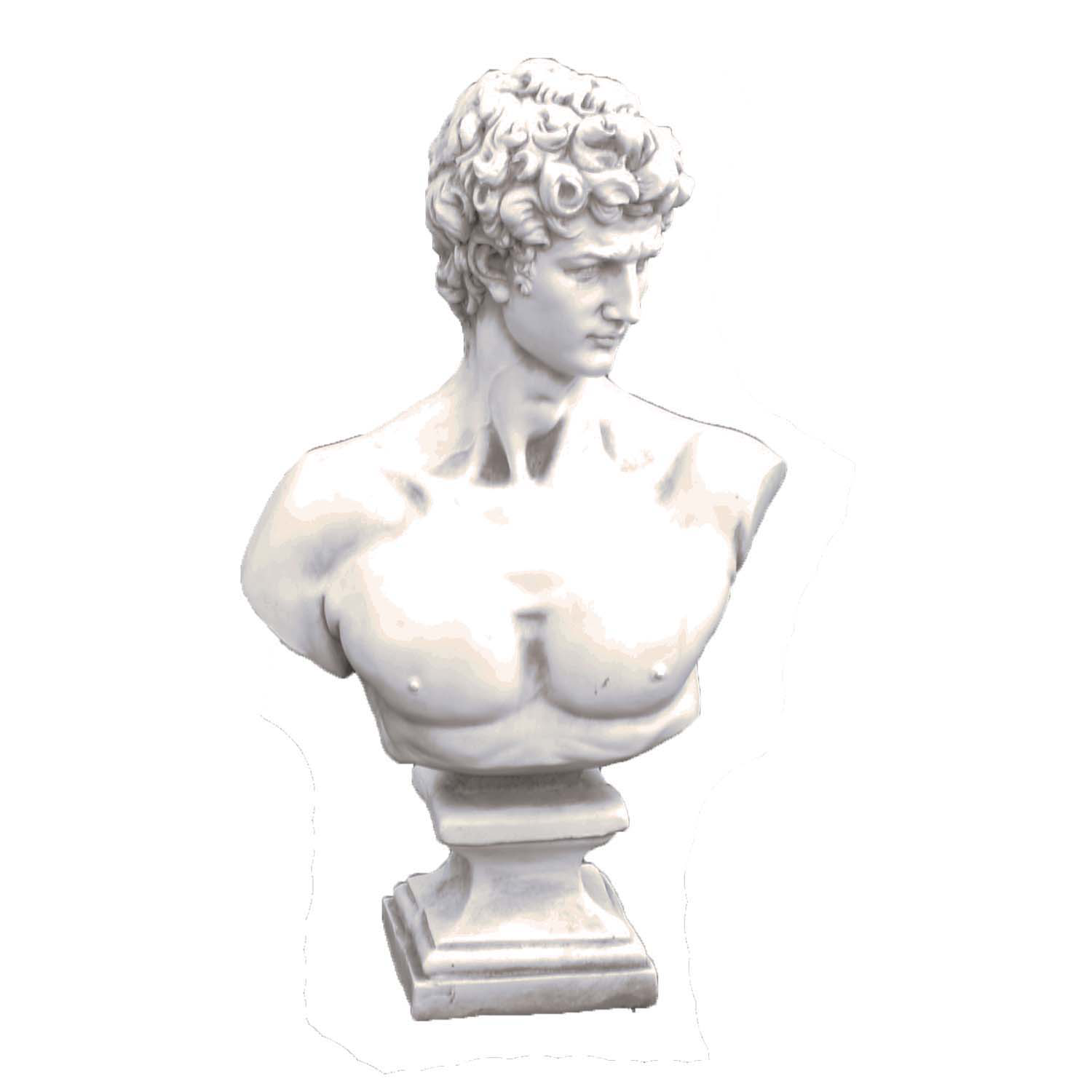 Solstice Sculptures David Bust Antique Stone Effect - Ruby's Garden Boutique