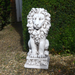 Solstice Sculptures Small Lion Antique Stone Effect - Ruby's Garden Boutique