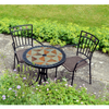 Image of Europa Stone Tobarra Bistro Table With 2 Malaga Chair Set - Ruby's Garden Boutique