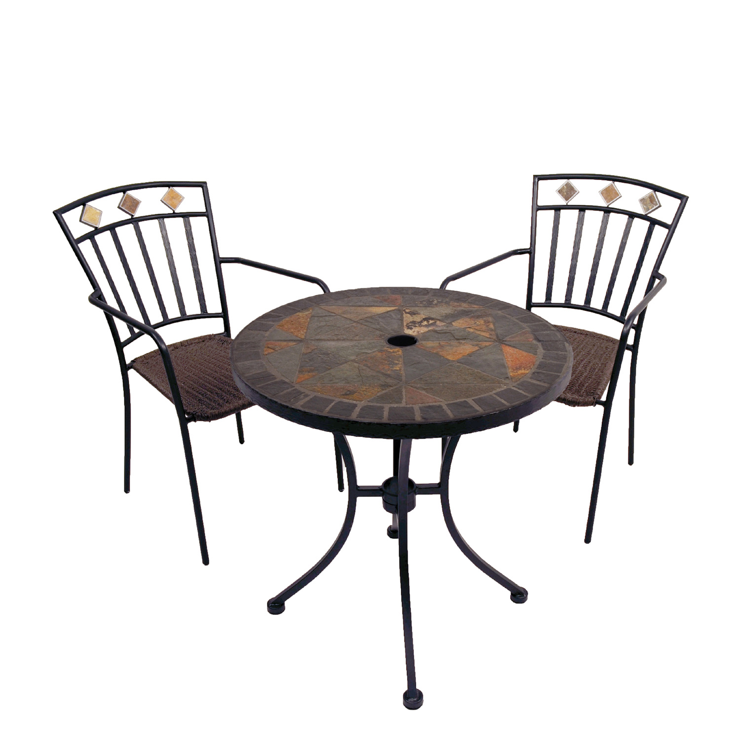 Europa Stone Tobarra Bistro Table With 2 Malaga Chair Set - Ruby's Garden Boutique