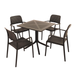 Nardi Anthracite Clip Table with 4 Bora Chair Set - Ruby's Garden Boutique