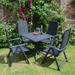 Nardi Anthracite Clip Table with 4 Darsena Chair Set - Ruby's Garden Boutique