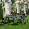 Image of Nardi Anthracite Libeccio Extending Table with 6 Bora Chair Set - Ruby's Garden Boutique